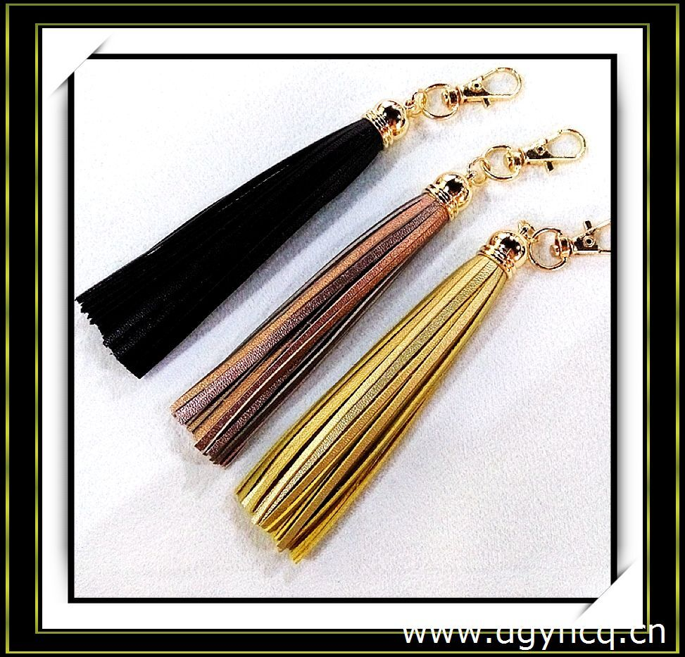 Decorative tassel / keychain leather tassel/leather tassel for handbag