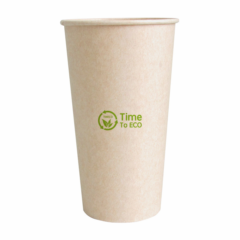 100% compostables PLA de vaso de papel desechable