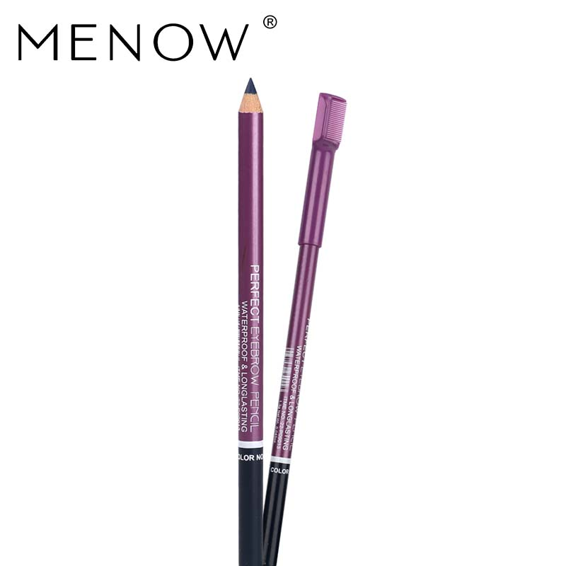 Menow Brand Cosmetic Eyebrow Pencil With Comb Waterproof &Long Lasting Effect Professional Makeup Eyebrow Pen