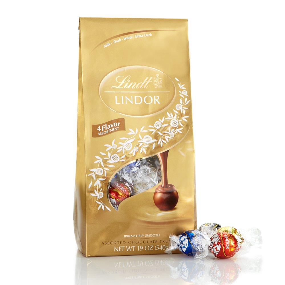 Lindt LINDOR Assorted Chocolate Truffles, Kosher, 19 Ounce Bag