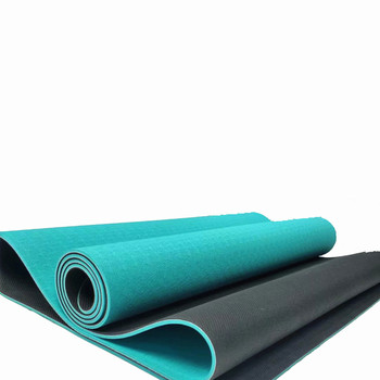 Wholesale Yoga mat eco-friendly fitness customized logo with TPE rubber