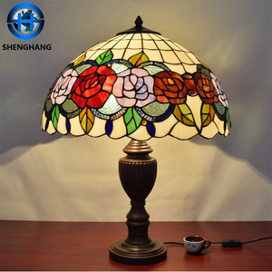 Selling High Quality Tiffany Lamp rose glass Shade in china dalian
