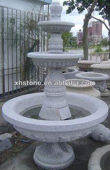 Hand- Geschnitzt Garten Dekorative Natur Granit 3- Tier Wasser ...