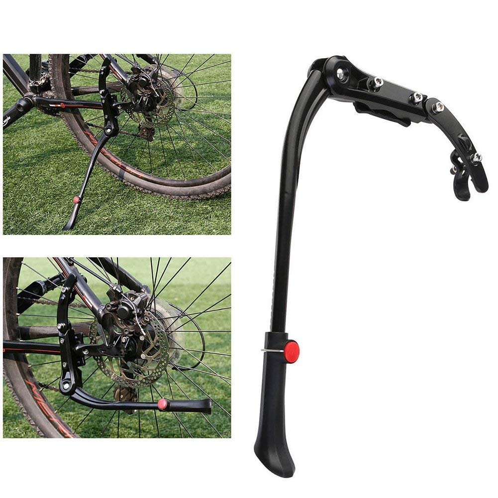 DAVEVY Adjustable Aluminum Alloy Bicycle Kickstand Mountain Bike Cycle Prop Rear Side Kick Stand,Bike Side Replacement Kickstand