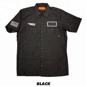 Work tshirt men uniform t shirts customized logo Men's industrial shortsleeve work shirt