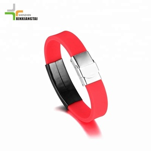 Black leather bracelet gps locator for Amazon hot sale