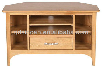 Solid Wood Corner TV Stand / Wooden TV Furniture PRO48/ Oak Tv Stand, Living