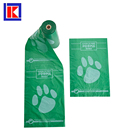 Degradable Pet Dog Waste dog bag poop With Paw Printing