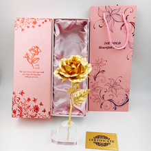 Hot sale 24K gold plated foil rose gifts flower for mother's day
