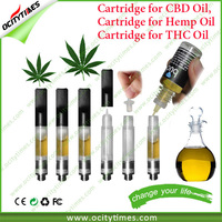Ocitytimes Wholesale OEM cbd oil atomizer with heavy oil vape cartridge for cbd hemp extract
