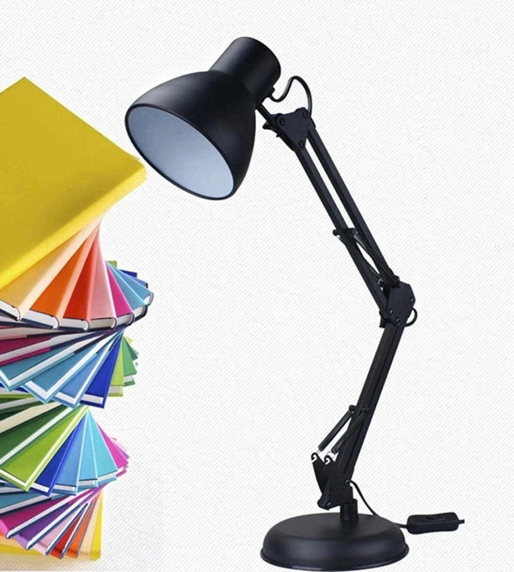 Cheesea Architect Swing Arm Desk Lamp with Adjustable Arms and Heavy Duty Weighted Base,black