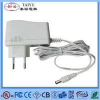 white EU ac/dc adapter dc12v wall adapter
