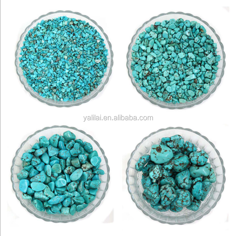 Bulk Wholesale Natural Raw Reiki Gravel Turquoise Tumbled Stone
