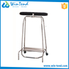 Stainless steel knocked down rubbish recycling cart trolley