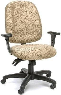 Ergonomic Medical Office Task Chair in Fabric w/Arms - Clinic Receptionist Chair