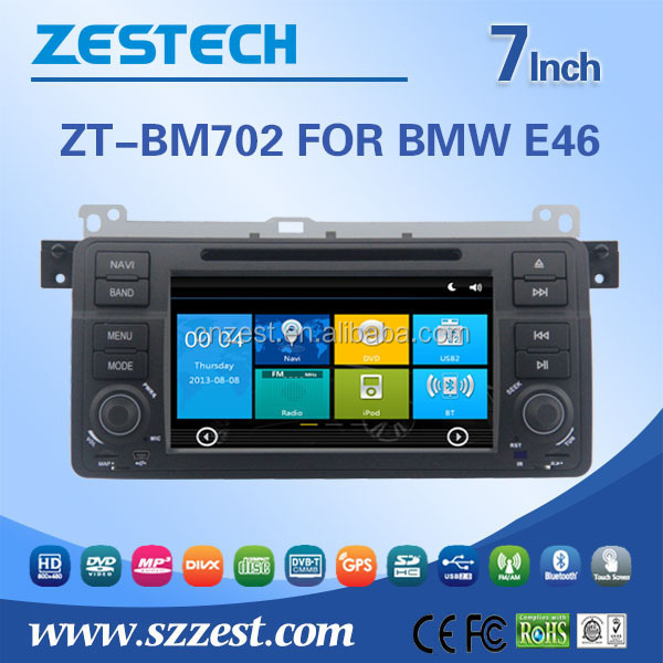 Sistema multimídia carro dvd para BMW e46 com GPS DVD rádio bluetooth música