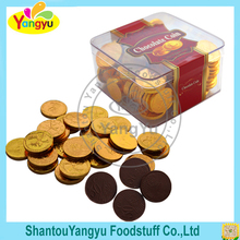 Painting decorative low sugar brown dark coin chocolate
