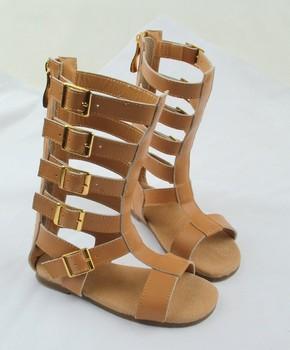 40998183429 Wholesale Cheap Roman Knee High Boot Kids Gladiator Sandals - Buy ...