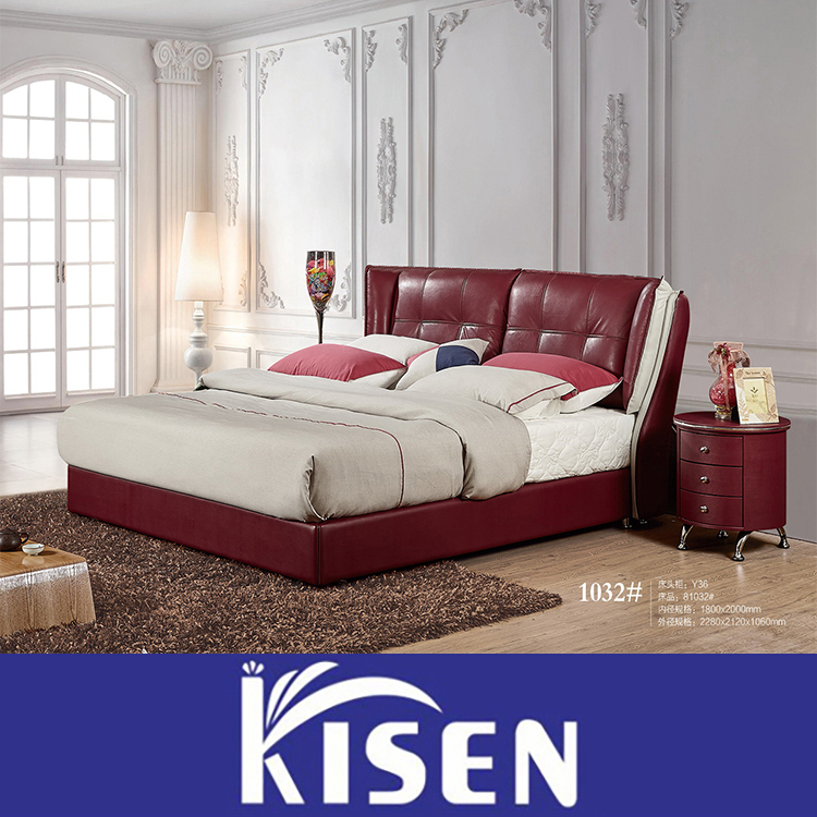 Modern Bedroom Red red leather bed, red leather bed suppliers and manufacturers at