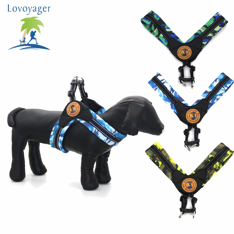Lovoyager pet harness simple front range dog collar easy walk reflective no pull dog harness
