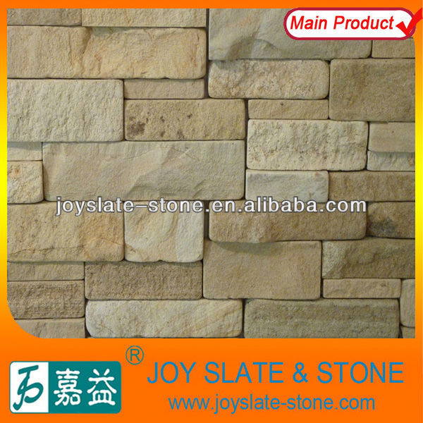 Yellow natural sandstone