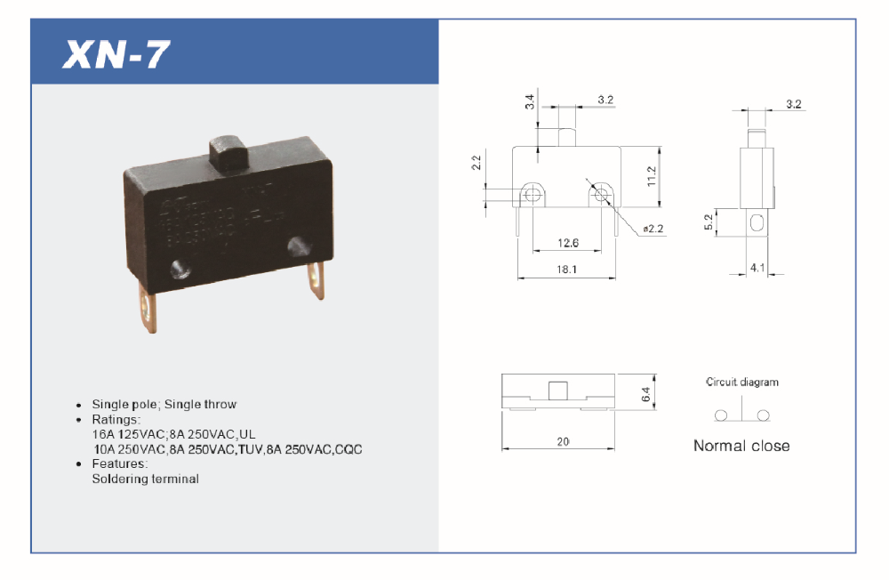 HANA hot sale SPSD micro switch with quality approve