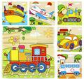 New arrival kids toys cute cartoon wooden stereoscopic puzzle kids educational toys lovely 3D six paintings