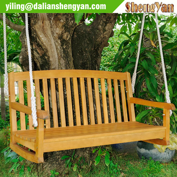 Wooden Garden Swing Seat For Adults