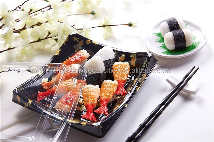 Latest superior quality train food boxes sushi box with many colors