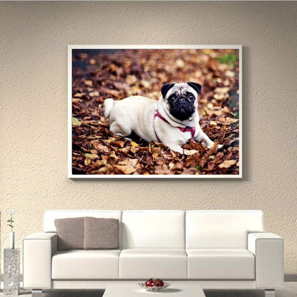 StaunchWea Fashion Full Drill Animal Pug Dog Embroidery DIY Resin Diamond Painting Decor - Y017