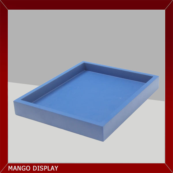 lacquered wood blue storage tray