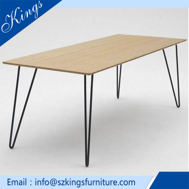 Wooden top high quality custom size antique cafe dining tables DT742
