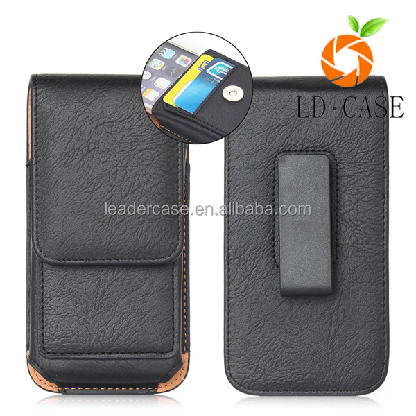 Premium PU Leather Magnetic phone case Belt Clip mobile phone case for iphone 7