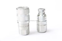 Flat Face Stainless Steel Quick Coupling, Hydraulic Quick Release Coupler