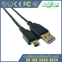 22AWG 3A MINI B 5PIN USB Type Cable for Cameras