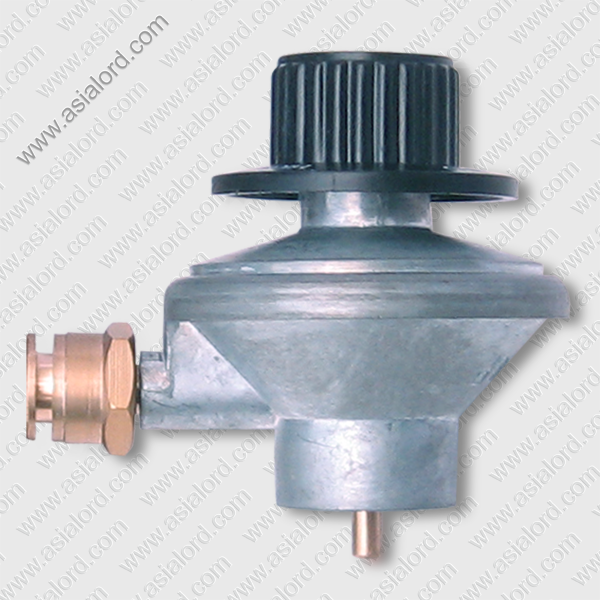 Brass gas valve for gas bottle regulator