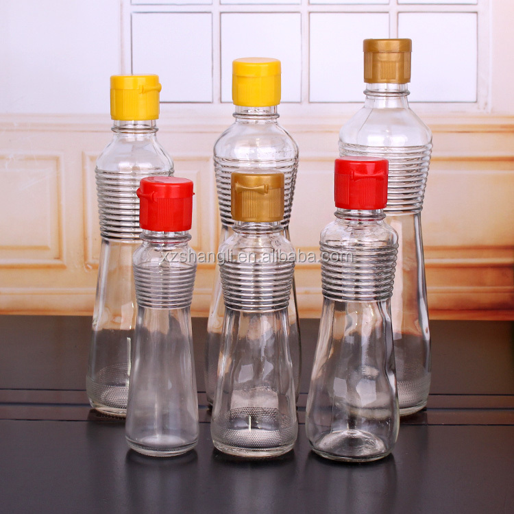 150ml 200ml 300ml 400ml 500ml bean soy oil glass bottle with flip top lid
