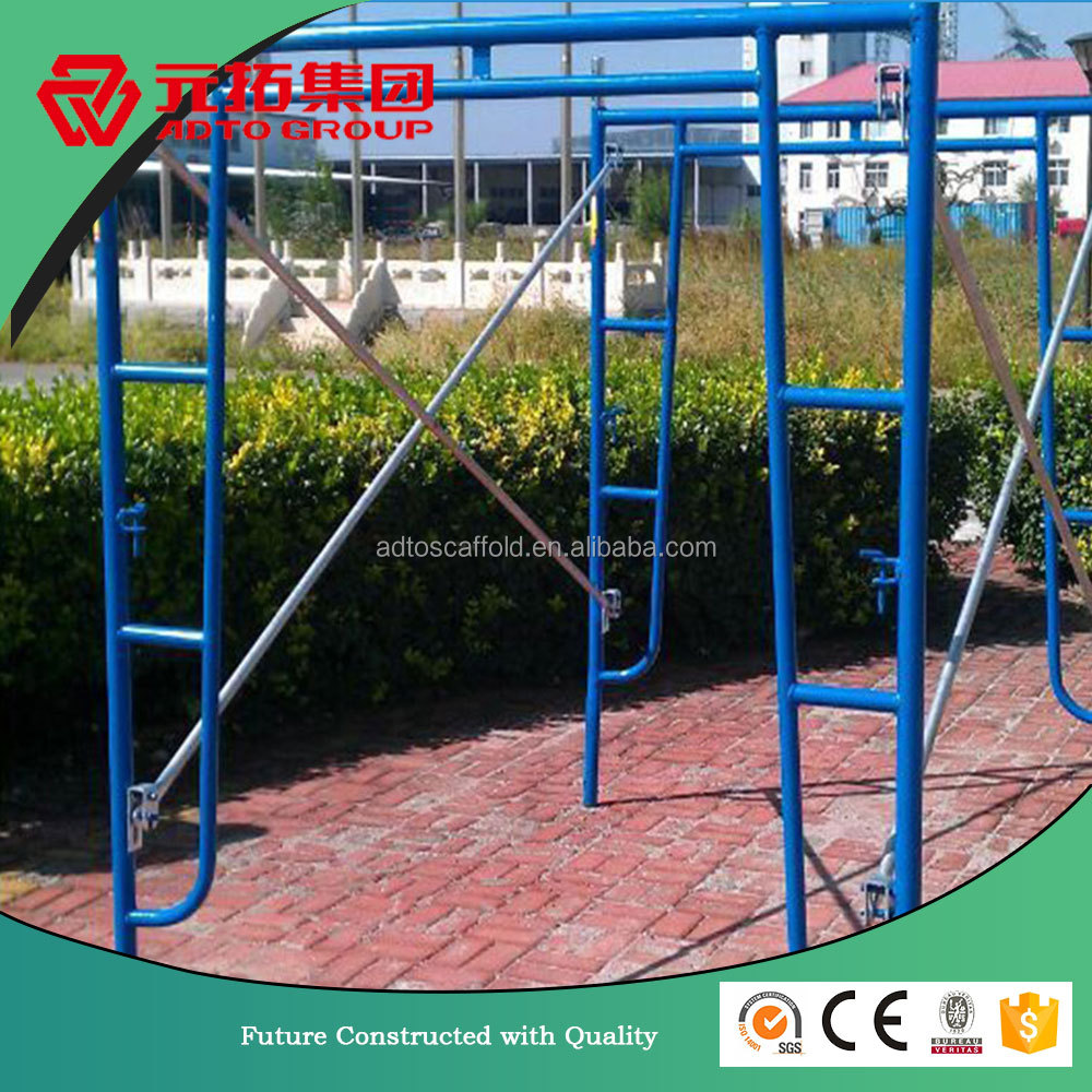 Supply ANSI open frame scaffold | walk-thru frame scaffolding| temporary access with brace and coupling pin