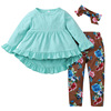 R&H Hot Sale Cute Soft Girls Boutique Clothes Set Kids Clothing Wholesale