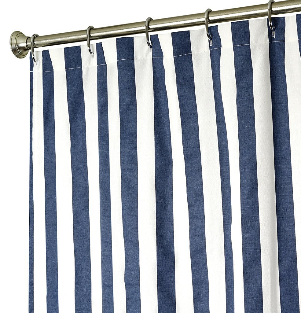 Buy 180cm Blue Striped Fabric Shower Curtains Thickening