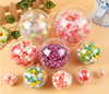 4cm to 20cm clear plastic ball for cookies plastic container