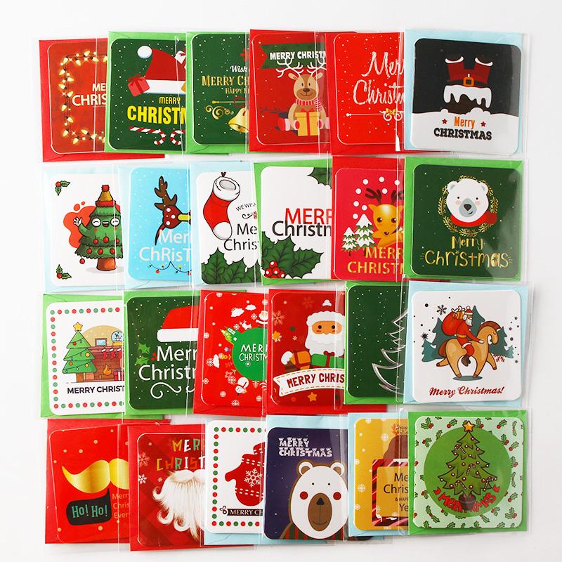 Set Kartu Ucapan Ukuran Kecil Diy,Desain Natal Lucu ...