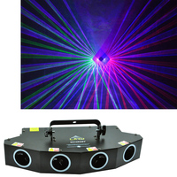 Disco Stage Lighting Effect Party Music Activate Magic fan shape home laser light show