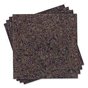 """Quartet Products - Quartet - Cork Panel Bulletin Board, Natural Cork, 12 x 12, 4 Panels/Pack - Sold As 1 Pack - Design your own bulletin board, any size or any shape, or cover a whole wall with dark cork panels. - Natural cork accepts push pins and tacks—and also absorbs room noise. - 1"""" square"""