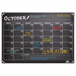 Dry erase refrigerator weekly monthly yearly planner blackboard magnetic calendar