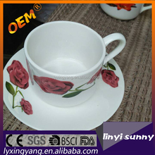 new bone china coffee cups and saucers with hign quality220cc cup plate