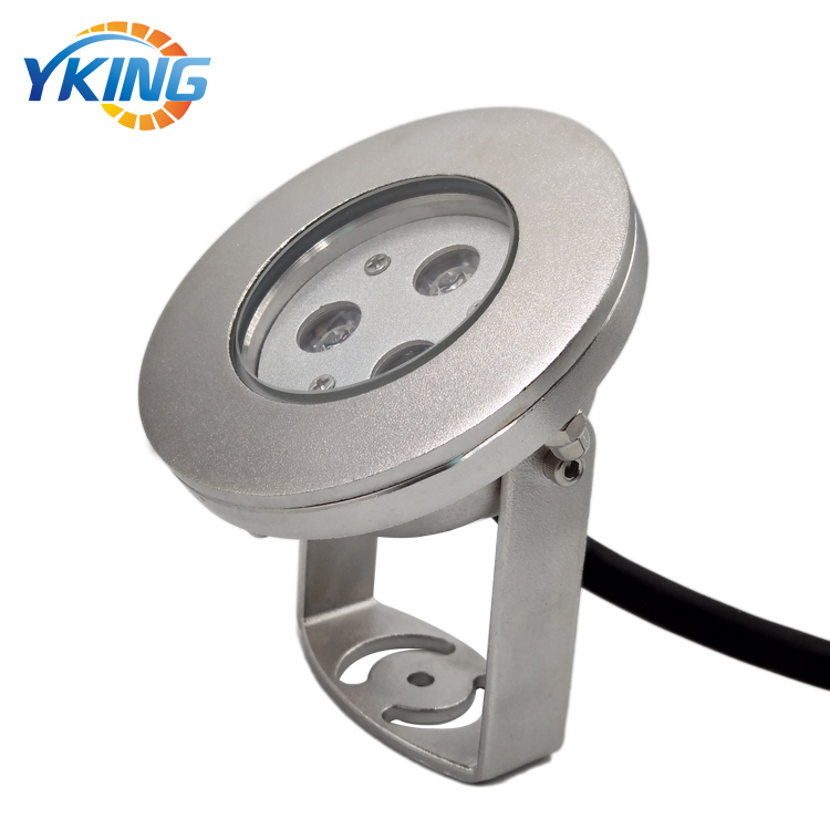 316L Stainless Steel 12V 9W IP68 RGB underwater Spot led light outdoor garden