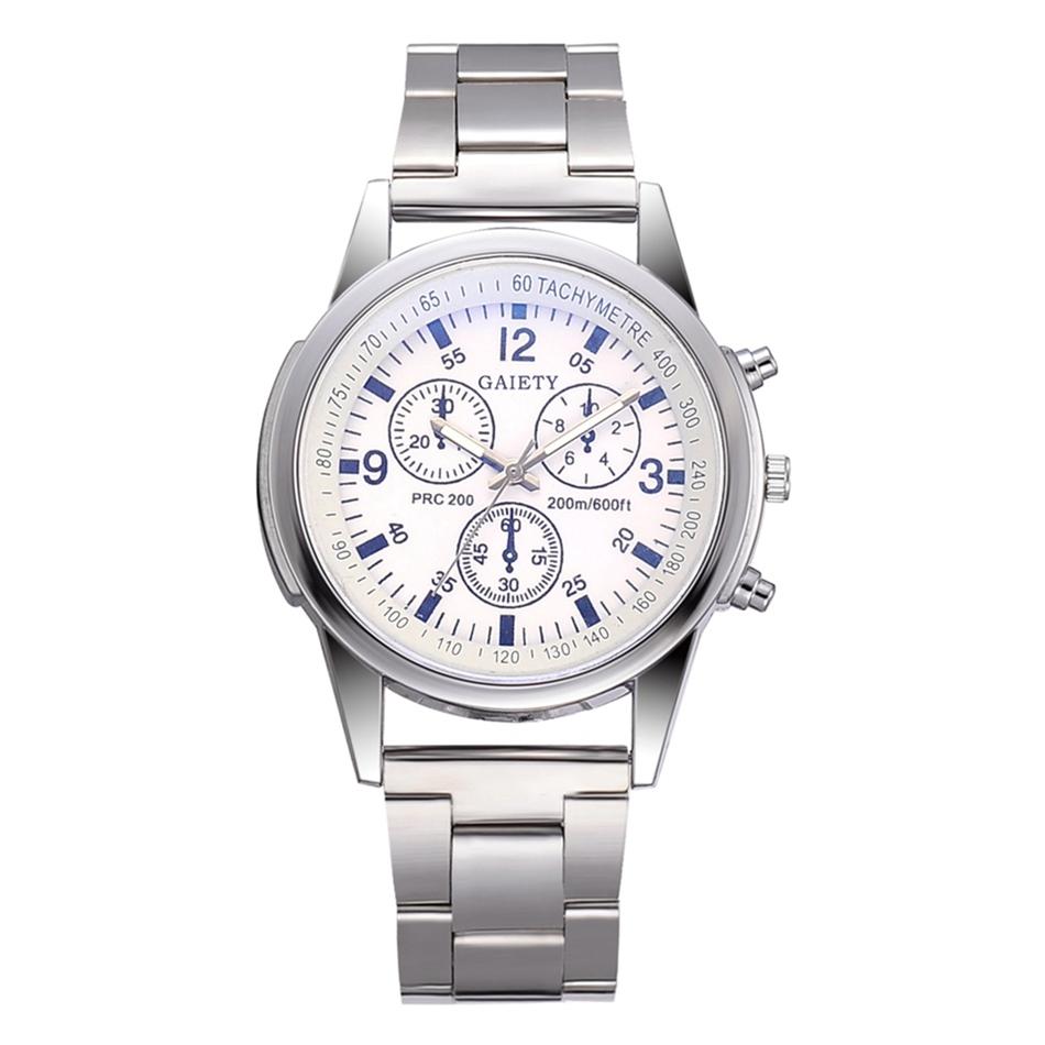 f0162fbb020f Alegría de lujo relojes de acero inoxidable de las mujeres de los hombres  de la marca