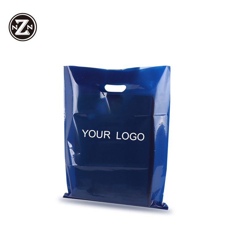 バイオ分解性カスタム印刷されたレジ袋ショッピングダイカットバッグプラスチック包装袋独自のロゴ