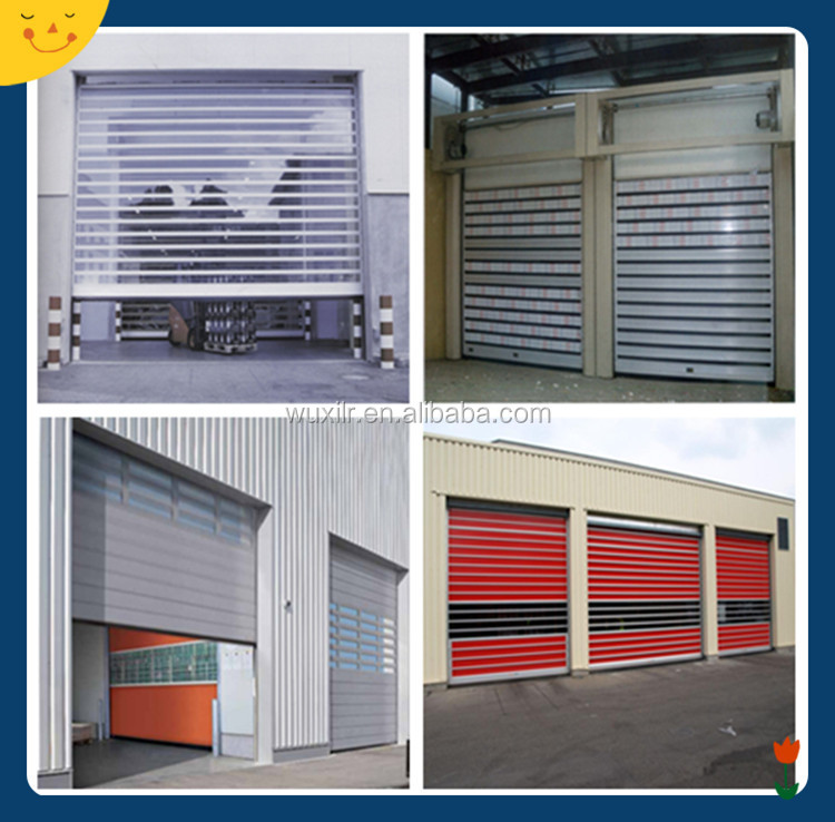 High quality metal fast roll up doors attach with small
